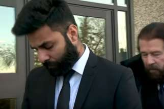 Jaskirat Singh Sidhu outside a Melfort, Sask. courtroom Jan. 8. His lawyer, Mark Brayford, said his client plead guilty to all charges in the Humboldt bus crash, saying Sidhu didn't want to make things worse by having a trial.