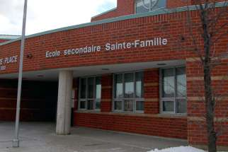 École Secondaire Catholique Sainte-Famille in Mississauga.