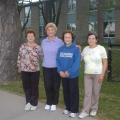 Mirella Monte, second from the left, with her walking group. Monte believes by keeping up an active lifestyle, she can be an example in healthy living to her children and grandchildren.