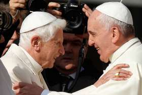 Pope Francis says Pope Benedict was a 'great pope'