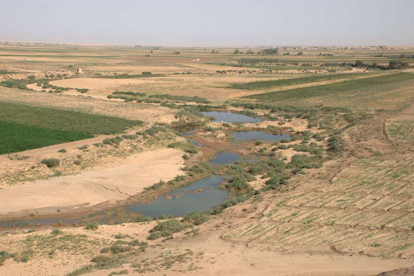 The Khabur River south of Hassakeh, Syria. The Society of St. Vincent de Paul has been unable to confirm the number of people, including women and children, kidnapped.
