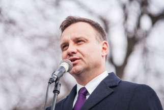 A photo of Polish president Andrzej Duda from March 2015. Duda wrote to Catholic and Anglican church leaders asking them to help protect Polish migrants in the midst of rising xenophobic activities in the U.K.