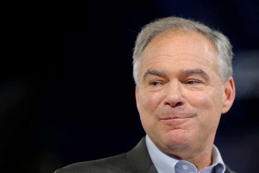 U.S. Democratic vice presidential candidate Sen. Tim Kaine, D-Va., is seen in Miami July 23.