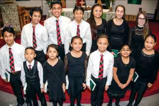 Seana Jae De Los Santos, third from front left, is a former SickKids patient. She and the rest of the St. James Youth Choir are excited to be doing a special performance at the second annual Above and Beyond Concert to raise money for the Hospital for Sick Children in Toronto.