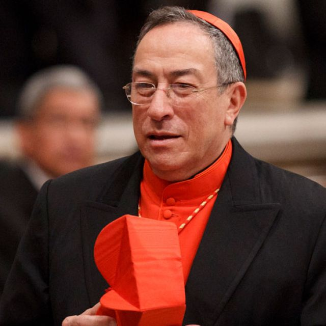 Cardinal Oscar Rodriguez Maradiaga of Tegucigalpa, Honduras, is seen before Pope Benedict XVI's celebration of Mass marking the feast of Our Lady of Guadalupe in St. Peter's Basilica at the Vatican Dec. 12.