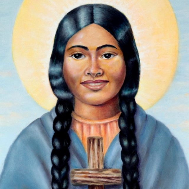 A Portrait of Blessed Kateri Tekakwitha. Pope Benedict XVI has advanced the sainthood cause of Kateri, the first Native American to be beatified. The church has recognized the second miracle needed for her canonization.