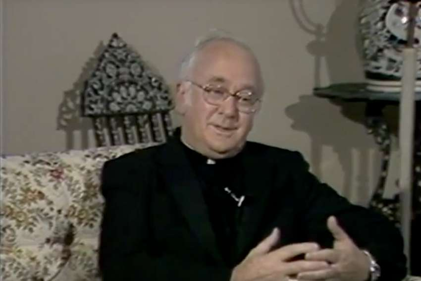 "Archbishop Alphonsus Liguori Penney is interviewed on the show ""Pathways"" in the 80s."
