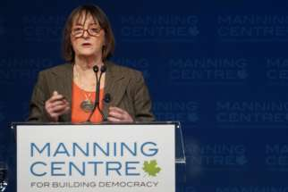 """I would ask Parliament to stand up and have a backbone,"" Margaret Somerville said to hundreds of conservative-minded influencers at the Manning Networking Conference that was held Mar. 5-7. The founding director of the McGill Centre for Medicine, Ethics and Law has also called for the use of the notwithstanding clause to give the Royal Commission time to report or for Parliament to have the time to consider the issues raised by legalizing physician-assisted death."