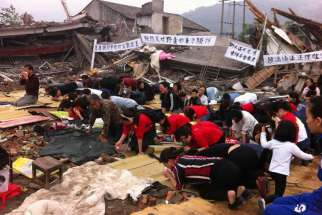 A church, which was still under construction, was reportedly destroyed by local authorities in China's Henan province May 5. 40 parishioners were detained when they tried to stop the demolition.