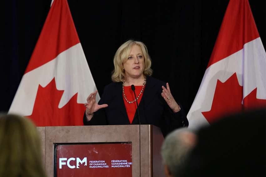"MP Lisa Raitt at the 2017 FCM conference. ""We could be in for a major problem with charitable status in this country and ripping the carpet out from so many vulnerable people who depend on charities and their good work,"" Raitt told the House of Commons March 1."