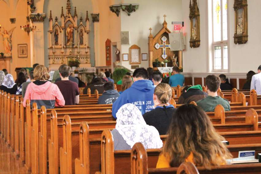 Students and staff spent a day in silent prayer in order to better dedicate their school year to God.