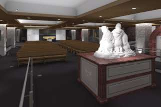 Artist's conceptual rendering of the Crypt Chapel of St. Michael's Cathedral Basilica.