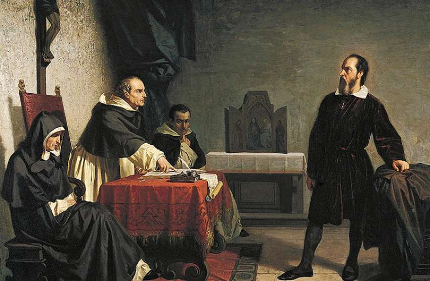 Galileo facing the Roman Inquisition, painting by Cristiano Banti, 1857. Ever since St. Pope John Paul II launched a 13-year review of the Galileo trial in 1979, ending in a sweeping correction of Catholic attitudes about both Galileo and science in general in 1992, the Catholic conversation about faith and science has quietly charted a new and fruitful path.