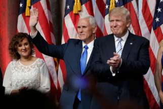 Donald Trump introduced Pence as his vice presidential running mate, July 16. A group of evangelical leaders has founded an organization advocating a Christian approach to politics.