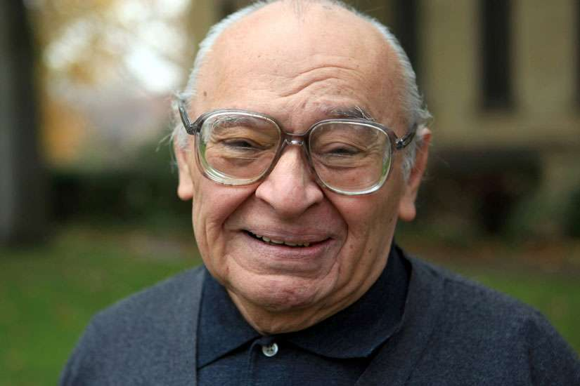 Dominican Father Gustavo Gutierrez is pictured in 2007 on the campus of the University of Notre Dame in Indiana. Father Gutierrez, known as the father of liberation theology, had an informal meeting with Pope Francis Sept. 11 at the pontiff's residence, Domus Sanctae Martae.