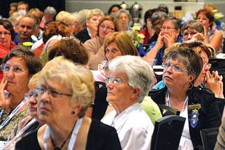 The Catholic Women's League has changed a lot over its 100-year history, adapting to the times and issues of the day. Above, a scene from the 2016 annual convention.