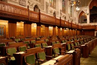 The seats of the governing party in the House of Commons of Canada.