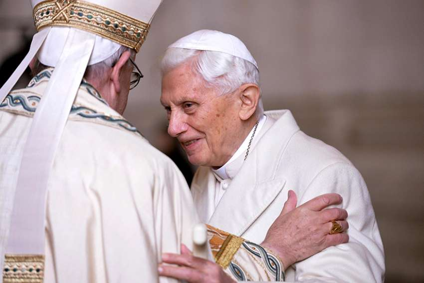 Before he was elected Pope Benedict XVI, Cardinal Joseph Ratzinger once wrote he was grateful for being born April 16, 1927, a day that fell during the church's most intense liturgical season.