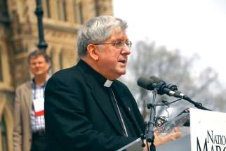 Cardinal Thomas Collins speaks at this year's March for Life in Ottawa on the importance of pro-life and pro-family politicians being able to follow their consciences.
