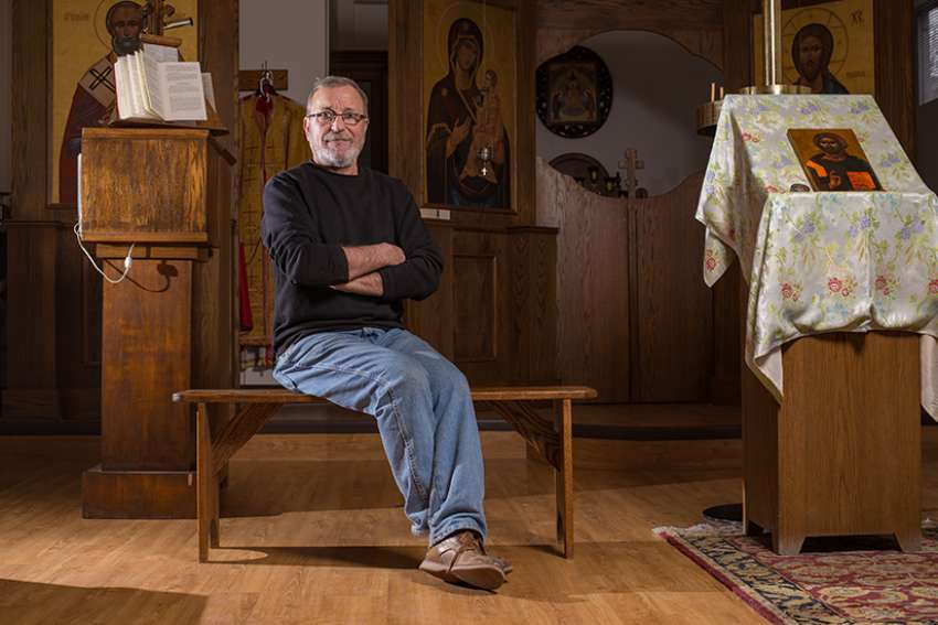 Master iconographer and art restorer Roumen Kirinkov offers the iconography course at the Sheptytsky Institute.