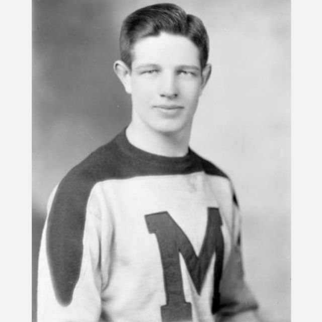 Fr. David Bauer David Bauer pictured in the St. Michael's College Hockey Team jersey in 1944.
