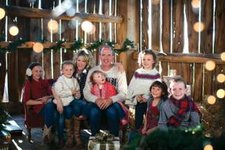 Natalie MacMaster and Donnell Leahy with their six children. The fiddling family joined forces to produce A Celtic Family Christmas and took to the road to showcase the CD.