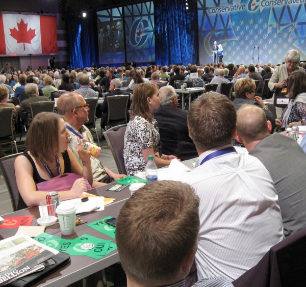 Delegates consider policy resolutions at final plenary of the Conservative Convention 2011 June 11