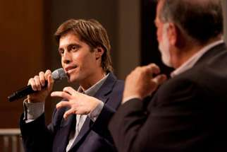 U.S. journalist James Foley speaks at Northwestern University's Medill School of Journalism in Evanston, Ill., after being released from imprisonment in Libya in 2011. Foley, a freelance war correspondent from New Hampshire and a Marquette University alu m, was killed at the hands of the Islamic State militant group.