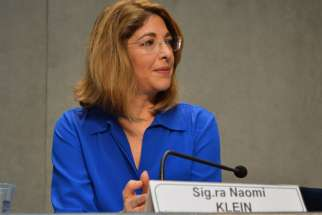 Anti-capitalism activist Naomi Klein praised Pope Francis for standing up to Republicans who are warring against environmentalists at the Vatican on July 1.