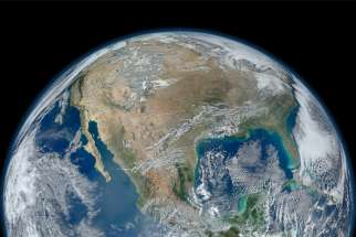 North America, as viewed from space. Four years after the Pope's encyclical Laudato Si', taking care of our common home has become all the more critical, driving the political, social and religious agendas around the world.