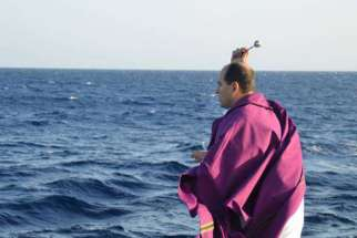 Fr. Alberto Gaston, a on a Spanish combatting human trafficking, has helped rescued thousands on the Mediterranean Sea.