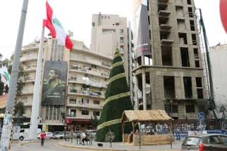 Amid the turmoil in the Middle East and persecution of Christians in surrounding countries, the Christmas spirit is evident in Lebanon: sparkling lights, decorated trees and even mangers in public places.