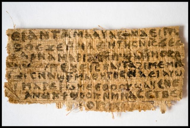 The fourth-century papyrus provides the first known piece of evidence that some early followers of Jesus proposed that he was married