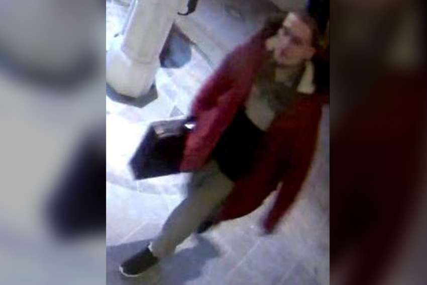 Toronto police is looking for a 5-foot-10 man who took someone briefcase during Mass at St. Michael's Cathedral Dec. 11.