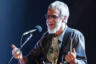 Cat Stevens performs at the Ryman Auditorium on Sept. 27, 2016, in Nashville, Tenn.