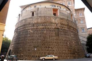 The Institute for the Works of Religion, popularly known as the Vatican bank, is located in the Bastion of Nicholas V in the Vatican. Founded in 1942 the bank... The tower is pictured in a 2009 file photo.