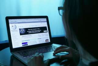 A Wikipedia Web page is pictured on a laptop computer in this photo illustration taken in Washington in January 2012.