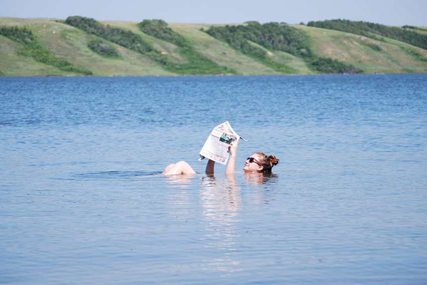 The high level of minerals in Saskatchewan's Little Manitou Lake has made it a virtually unsinkable destination for floaters.