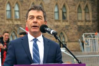 MP David Anderson speaks at the May 9 March for Life in Ottawa.