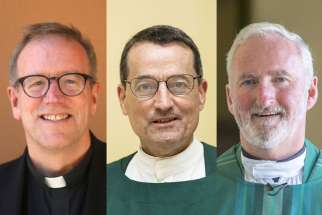 Pope Francis named Fr. Robert Barron, 55, Msgr. Joseph V. Brennan, 61, and Msgr. David G. O'Connell, 61, as auxiliary bishops for the Los Angeles archdiocese.