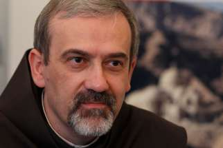 Franciscan Father Pierbattista Pizzaballa, head of the Franciscan Custody of the Holy Land, is pictured in a 2011 photo in Rome. Franciscan Father Francesco Patton has been elected as new Custos of the Holy Land, replacing Father Pizzaballa.