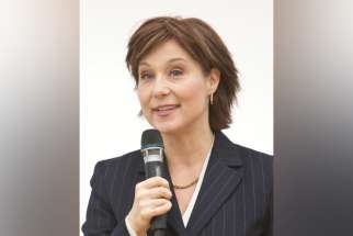 """Proudly pro-choice"" Christy Clark, the former Liberal premier of British Columbia."