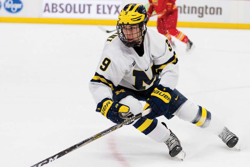 Eric Ciccolini's season is well underway at the University of Michigan this year, where the New York Rangers' prospect suits up for the NCAA's Wolverines.