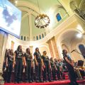 The combined choirs of Toronto's Cardinal Carter Academy for the Arts performed the Missa Gaia at Holy Name Church April 3.