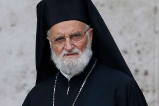 Several Melkite bishops boycotted the bishops' synod June 2016, demanding the resignation of Patriarch Gregoire III Laham, pictured at the Vatican in 2015.