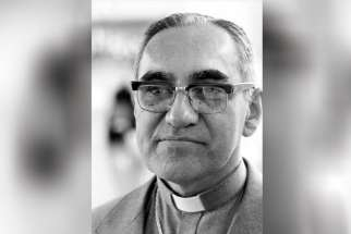 Salvadoran Archbishop Oscar Romero, an outspoken critic of human rights abuses in El Salvador who was gunned down while celebrating Mass in 1980, is pictured in an undated photo. A panel advising the Vatican's Congregation for Saints' Causes voted unanimously to recognize the late Archbishop Romero as a martyr.