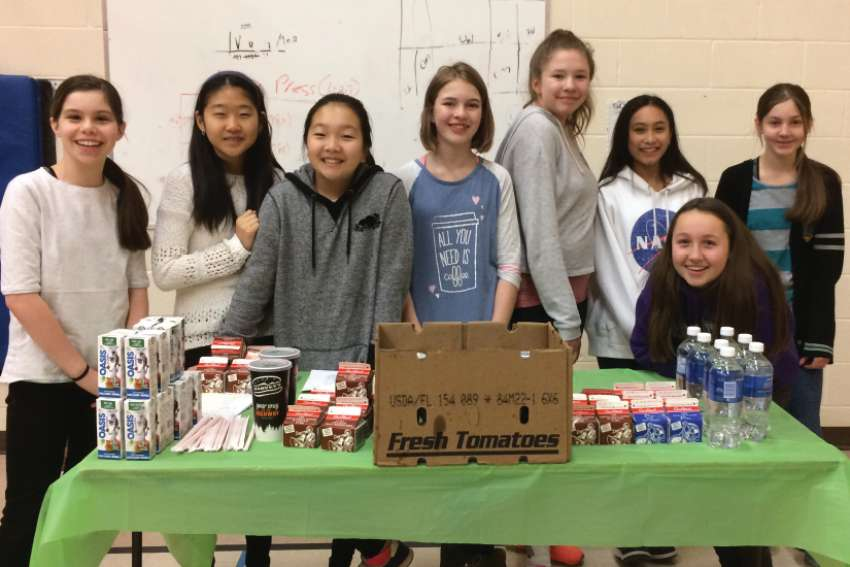 On April 19 and 20, the students and staff of Canadian Martyrs elementary school in the York Catholic District School Board enjoyed a Harvey's lunch together to raise money for ShareLife.