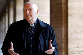 Archbishop McCarrick is pictured in a 2013 photo at the Vatican.
