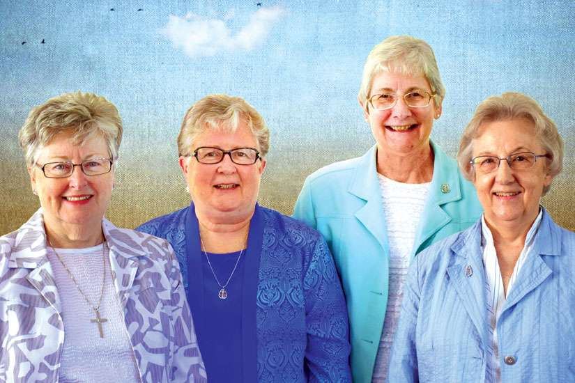 The Sisters of Providence leadership team were installed on June 14. From left, General Superior Sr. Sandra Shannon, and councillors Sr. Frances O'Brien, Sr. Gayle Desarmia and Sr. Diane Brennen.