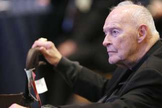 Cardinal Theodore E. McCarrick, retired archbishop of Washington, is pictured in a 2017 photo. In a front-page story July 16, The New York Times interviewed two men who received settlements after they accused the prelate of abusing them as seminarians when he was a bishop in New Jersey.